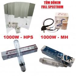 1000w Çift Lamba-Balast-Reflektör Set / MH-HPS (Grow-Bloom) Full Spectrum