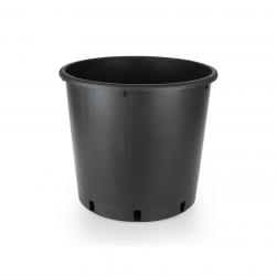 25 Litre Yuvarlak Siyah Saksı 340x330mm - 10 Adet