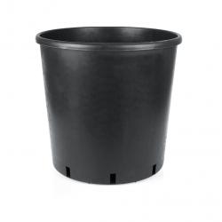 50 Litre Yuvarlak Siyah Saksı 420x420mm - 10 Adet