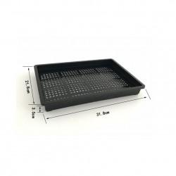 Delikli Tepsi - Saksı Altlığı 32x22x3.5cm